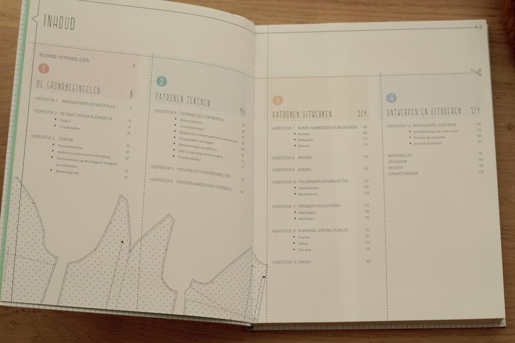 Inhoudsopgave patroontekenboek