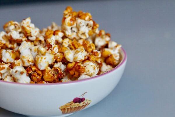 Popcorn met zoute karamel
