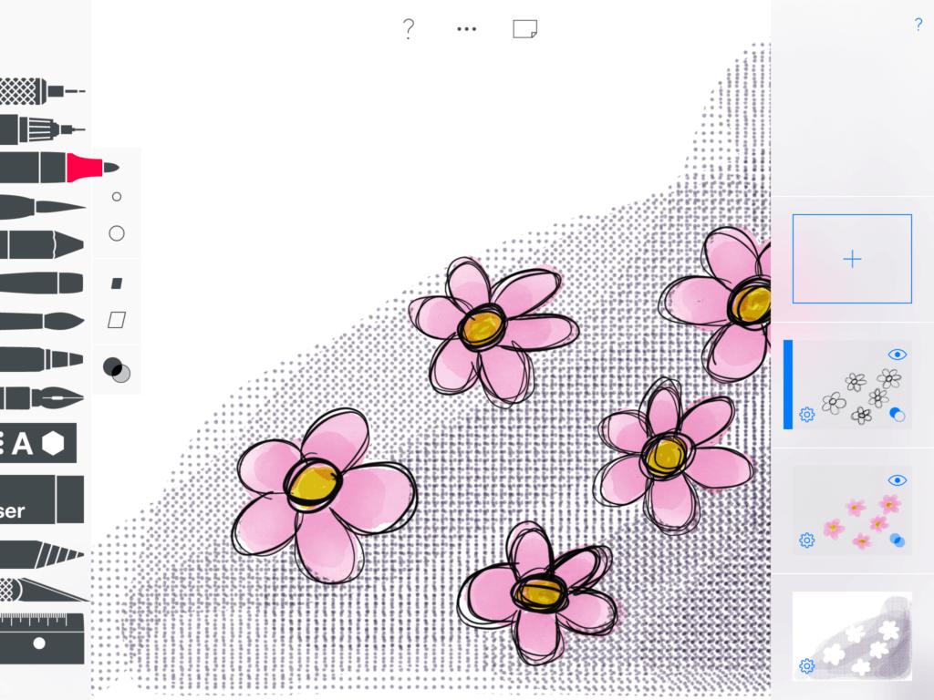 Tekenapps iPad sketches
