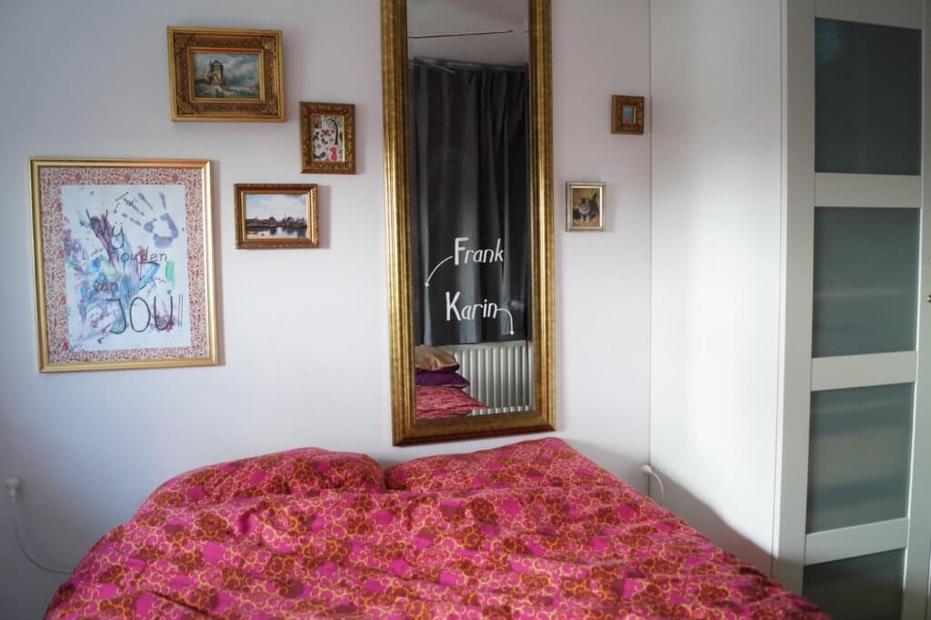 Slaapkamerdecoratie met krijtstift