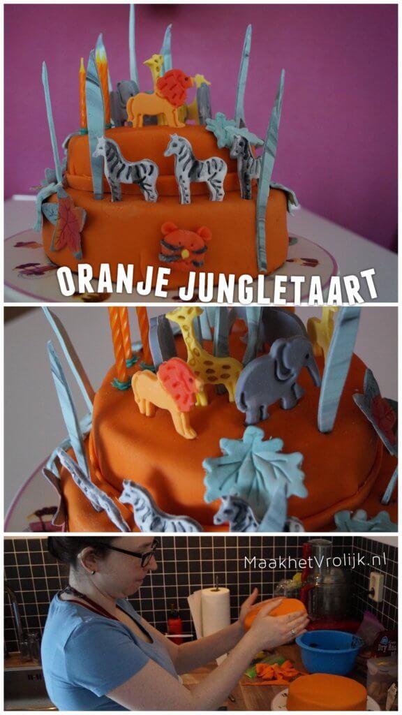 Oranje jungletaart