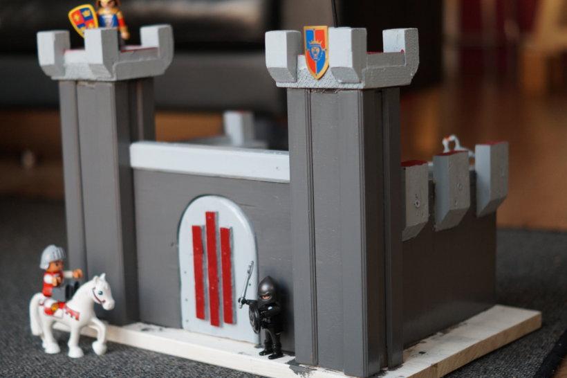 Houten ridderkasteel voor playmobil