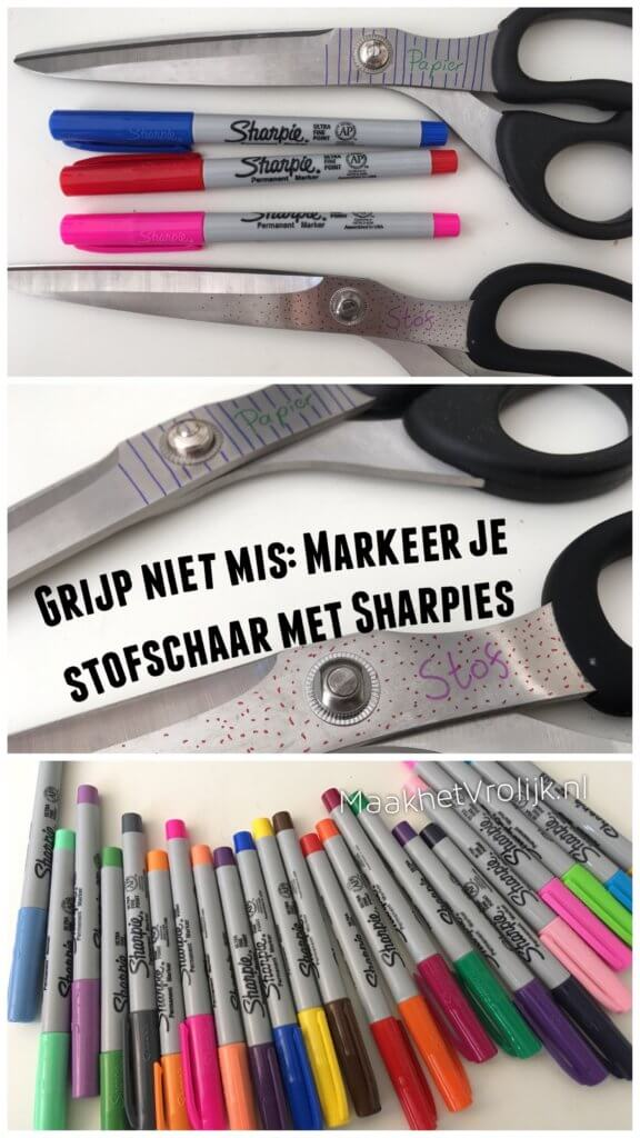 Stofschaar markeren met Sharpies